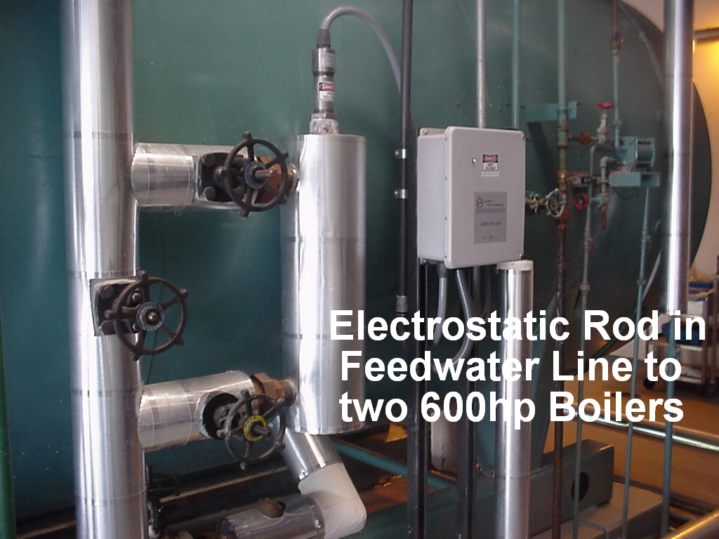 Electrode Insertion for two 600hp boilers